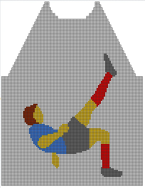 grille tricot footballeur 8 ans