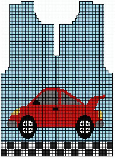 grille jacquard voiture 2 ans