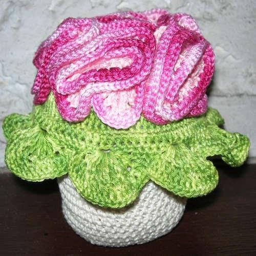 pot avec fleurs