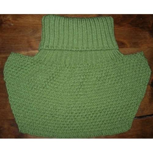 Fiche tricot col roulé à plastron