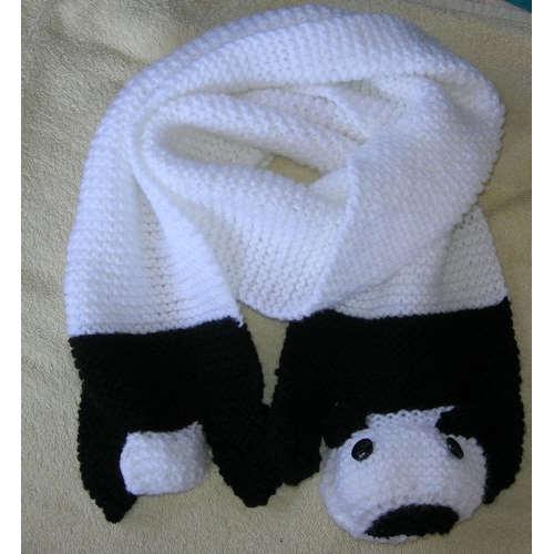 Fiche tricot écharpe panda et écharpe nounours