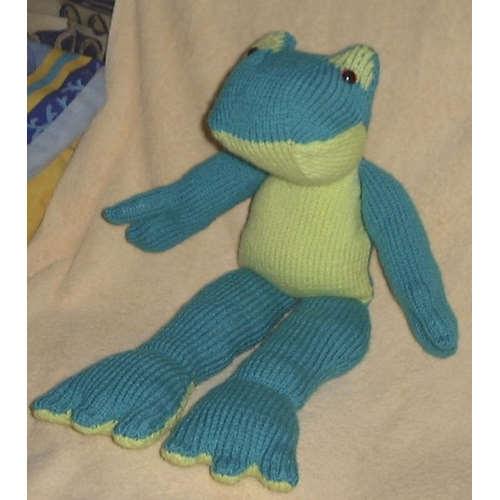 FICHE TRICOT peluche grenouille en Numéro1