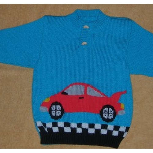 FICHE TRICOT pull rally 2 et 4 ans