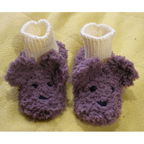 chaussons layette nounours
