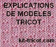 explications gratuites de modèles tricot