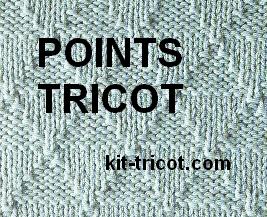 quelques points en tricot