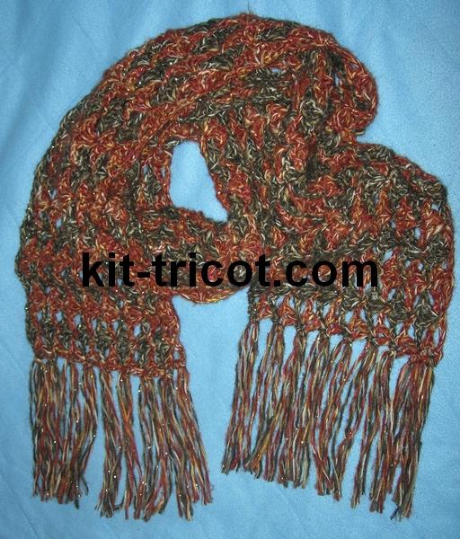 echarpe monaco au crochet
